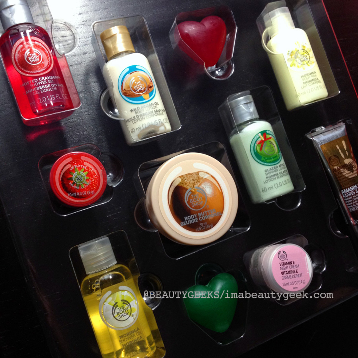 advent calendars 2014_The Body Shop advent calendar 2014 interior 2