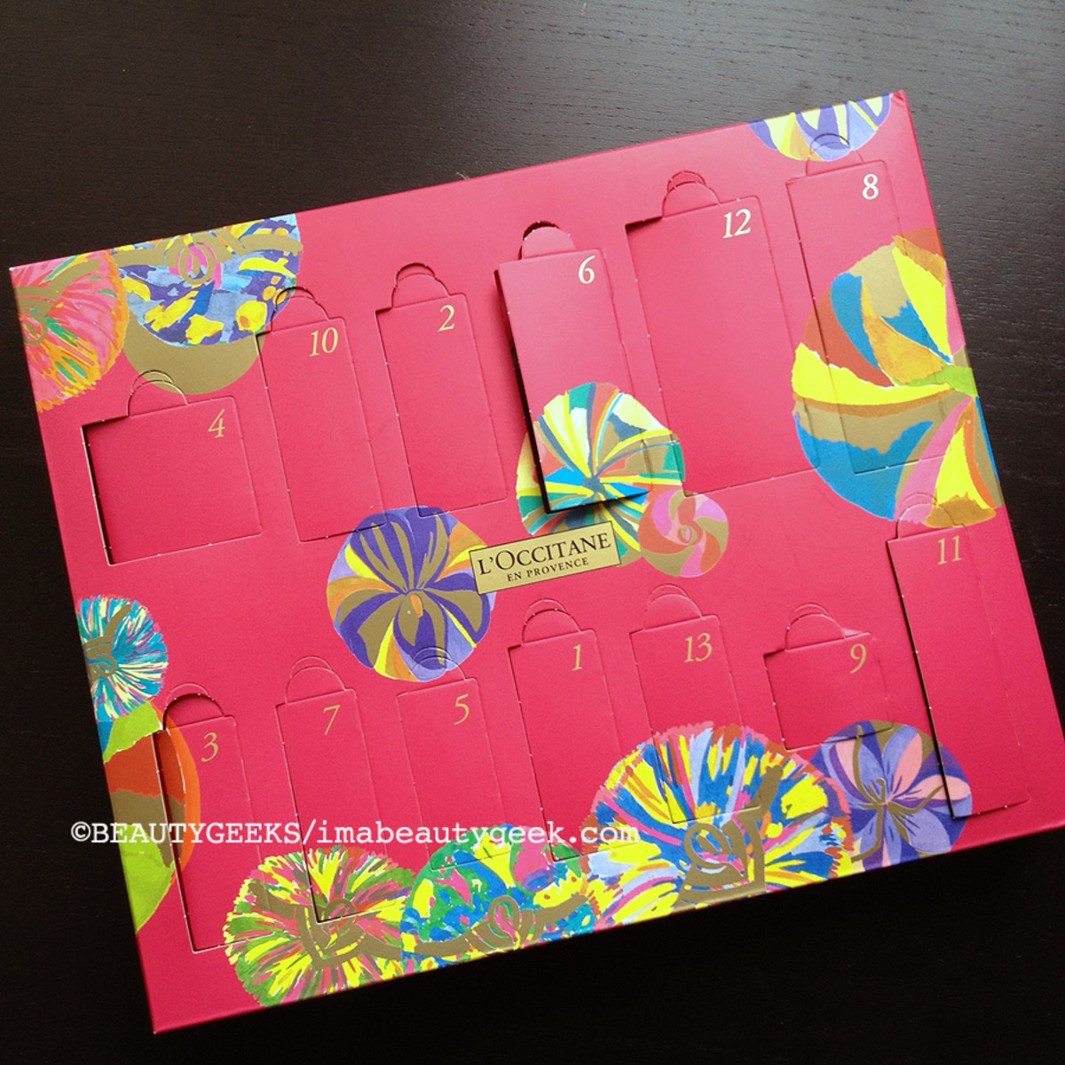 advent calendars 2014_L'Occitane 13 desserts of Provence_psuedo advent calendar front