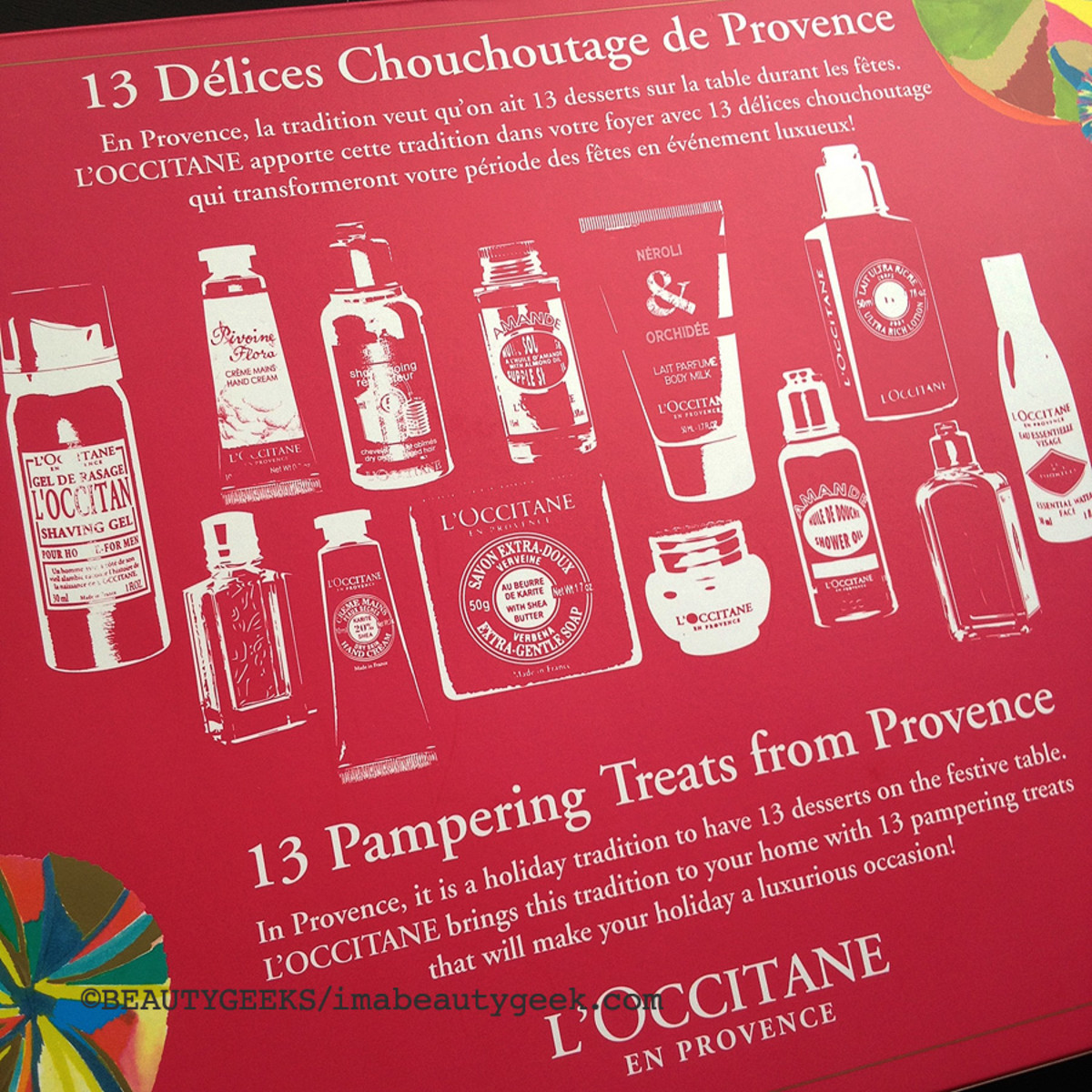 advent calendars 2014_L'Occitane 13 desserts of Provence_psuedo advent calendar back