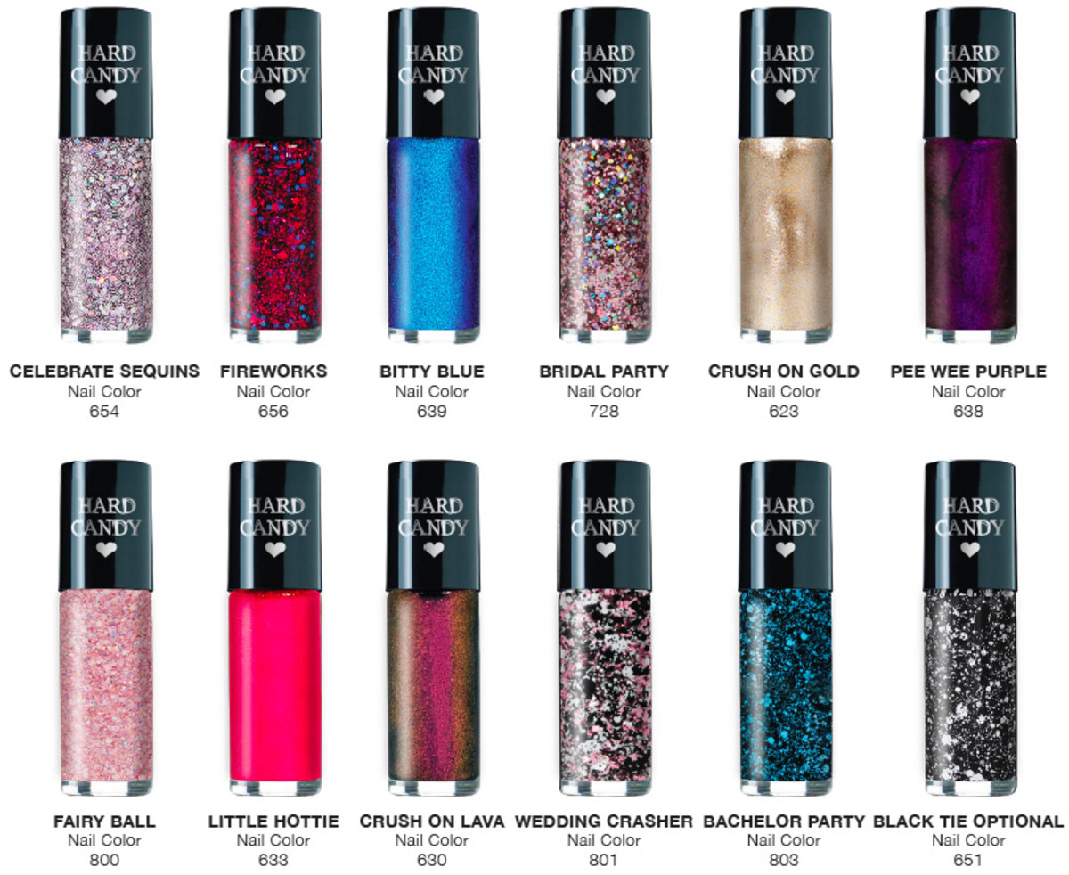 advent calendars 2014_Hard Candy 12 Days of Nails contents