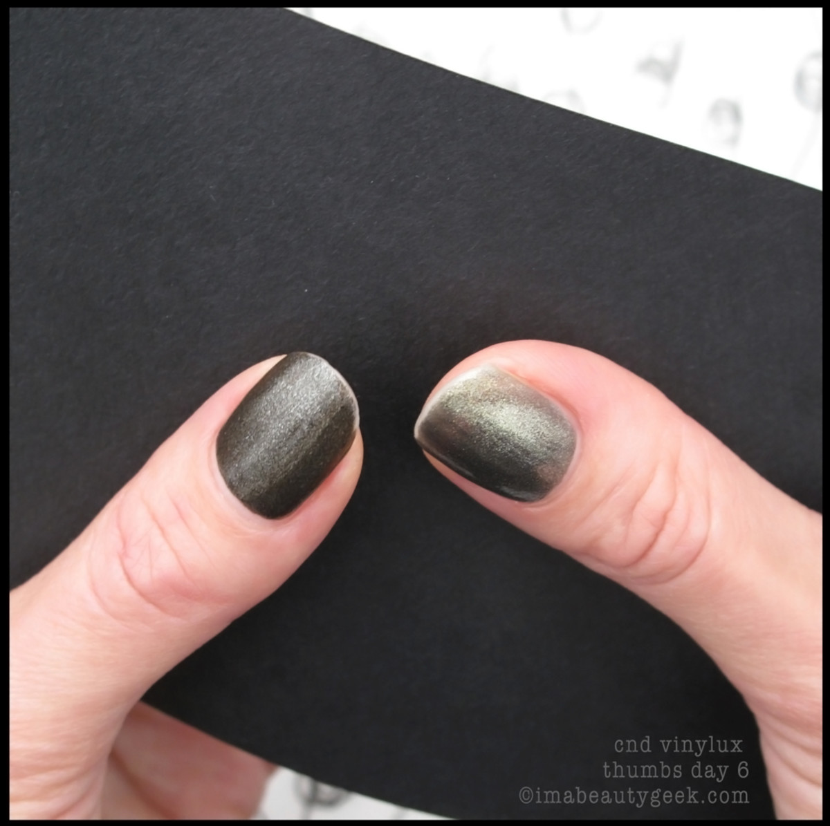 CND Vinylux review_Vinylux Forbidden Collection Day 6 Thumbs