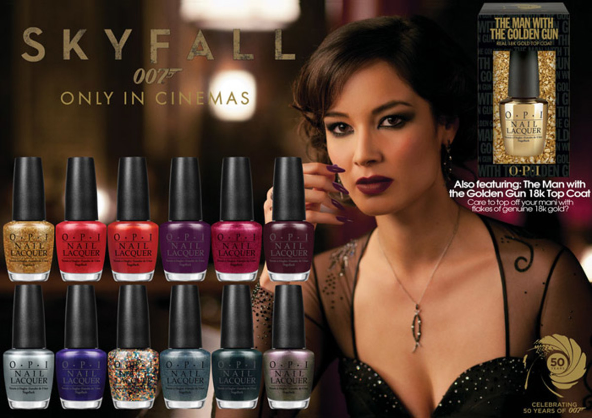 OPI Skyfall collection promo