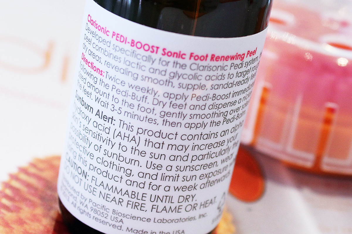 Clarisonic Pedi_Pedi-Boost Sonic Foot Renewing Peel label