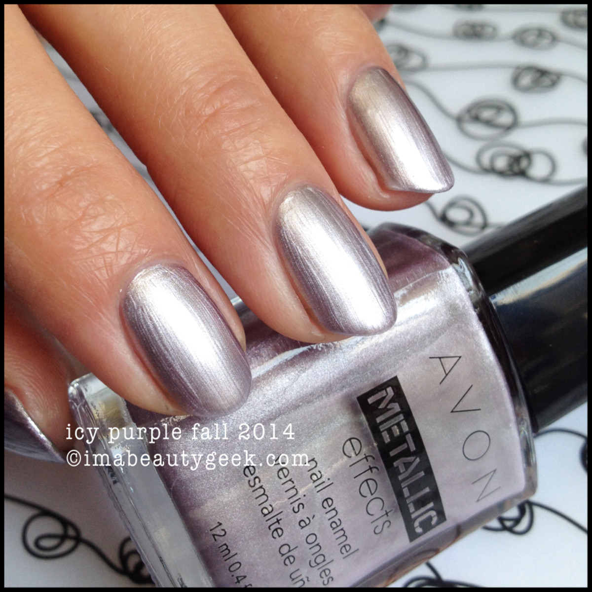 Avon Polish Fall 2014 Icy Purple Metallic Effects