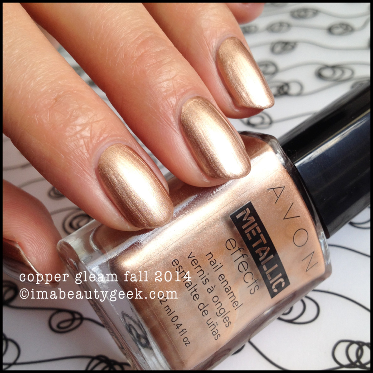 Avon Polish Fall 2014 Copper Gleam Metallic Effects