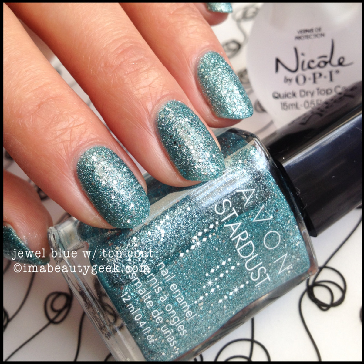 Avon Stardust Jewel Blue with Topcoat Fall 2014