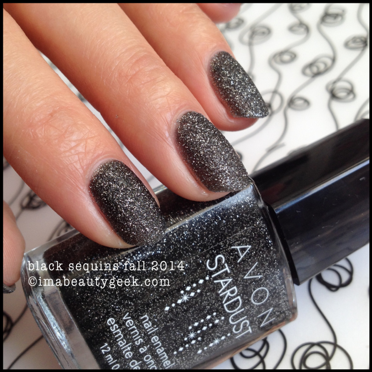 Avon polish Black Sequins Stardust Fall 2014
