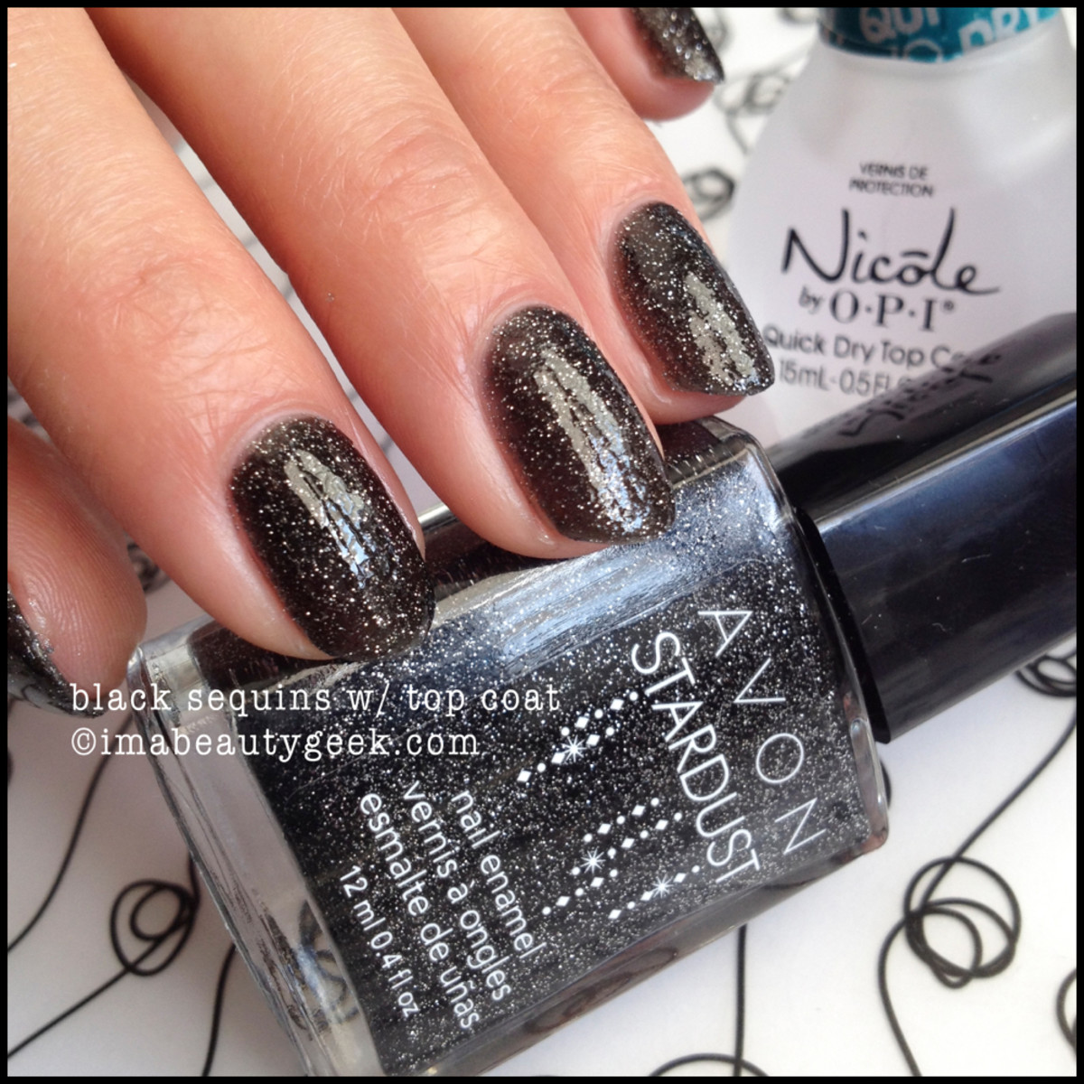 Avon pollish Stardust Black Sequins Fall 2014