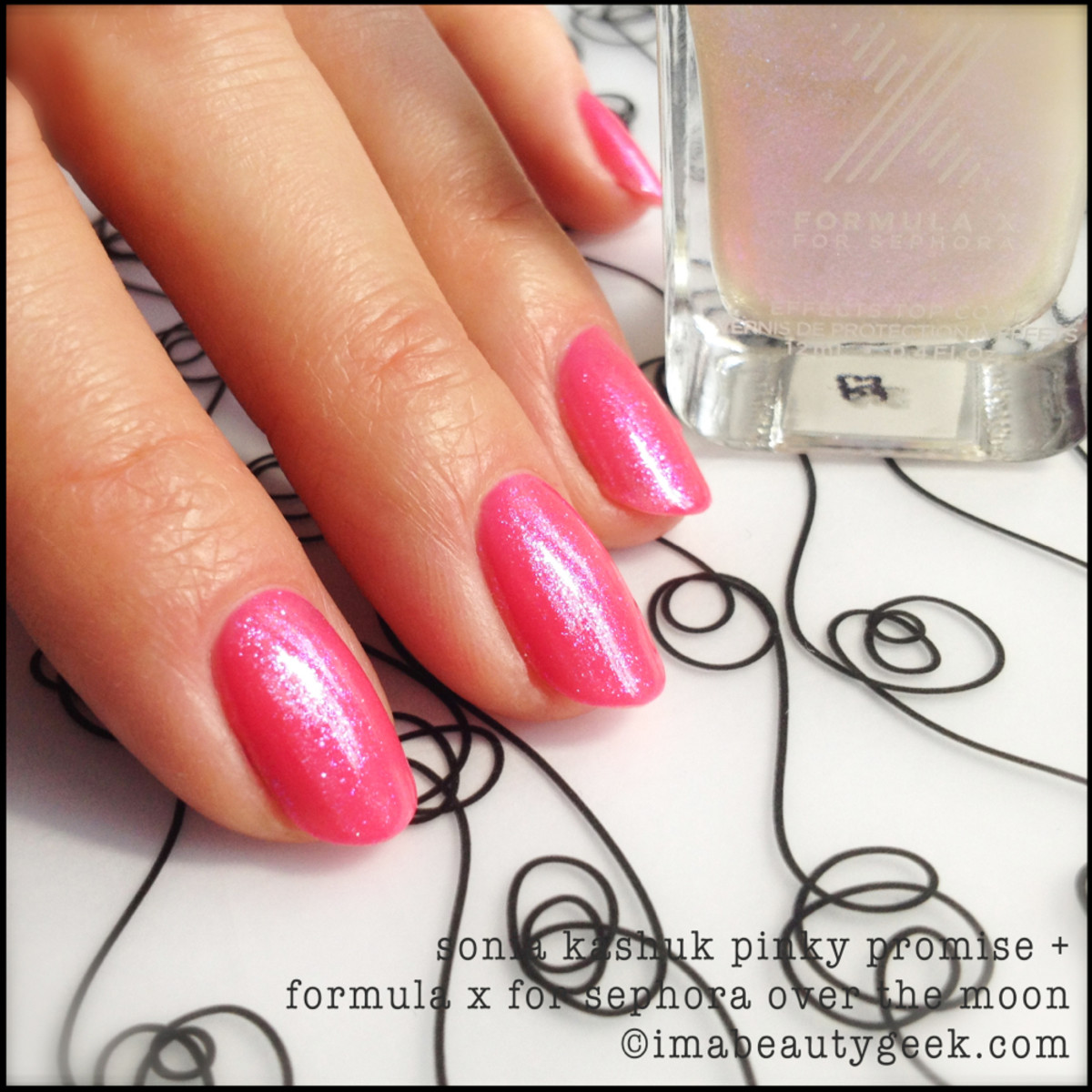 Sonia Kashuk Pinky Promise w Formula X Over the Moon_Sonia Kashuk nail polish Spring 2014