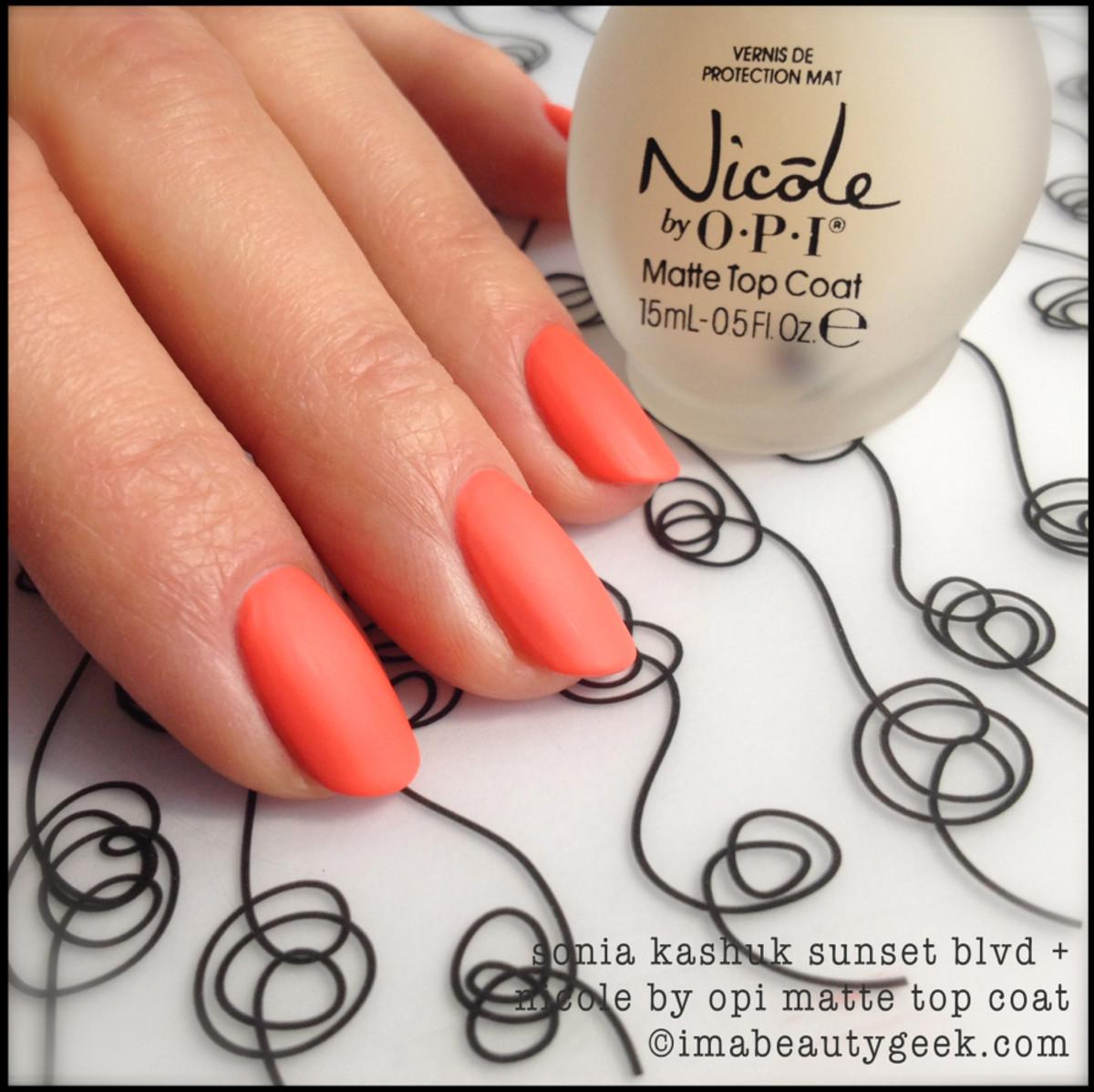 Sonia Kashuk Sunset w Nicole Matte Top_Sonia Kashuk nail polish Spring 2014