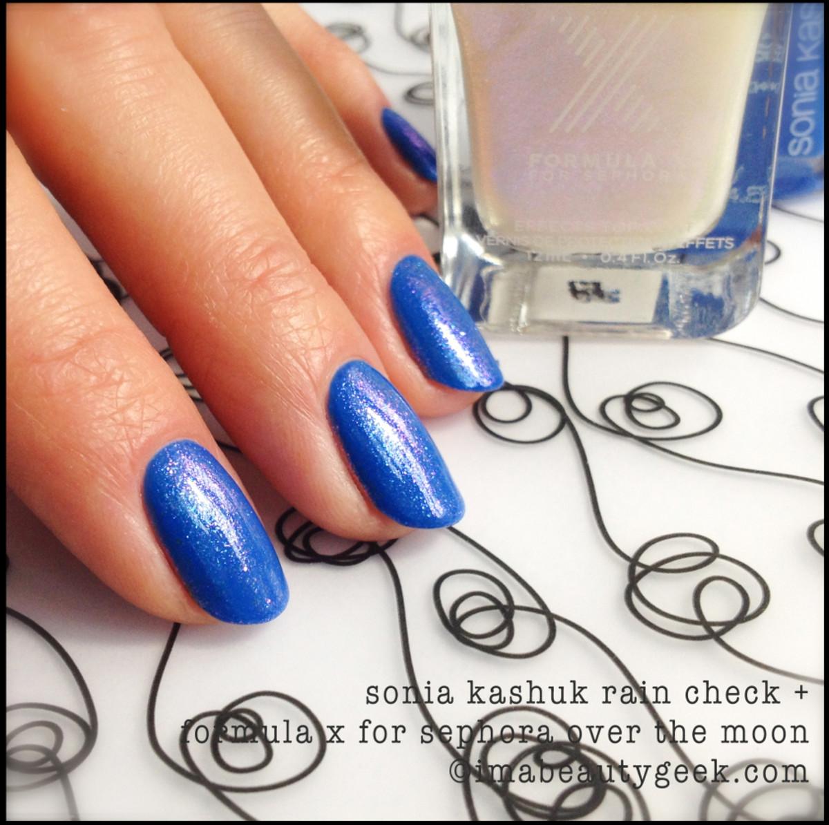 Sonia Kashuk Rain Check w Formula X Top Coat_Sonia Kashuk nail polish Spring 2014