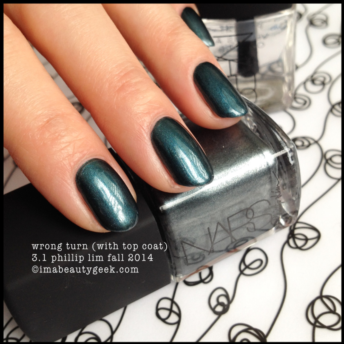NARS Polish Wrong Turn w TopCoat Phillip Lim Fall 2014