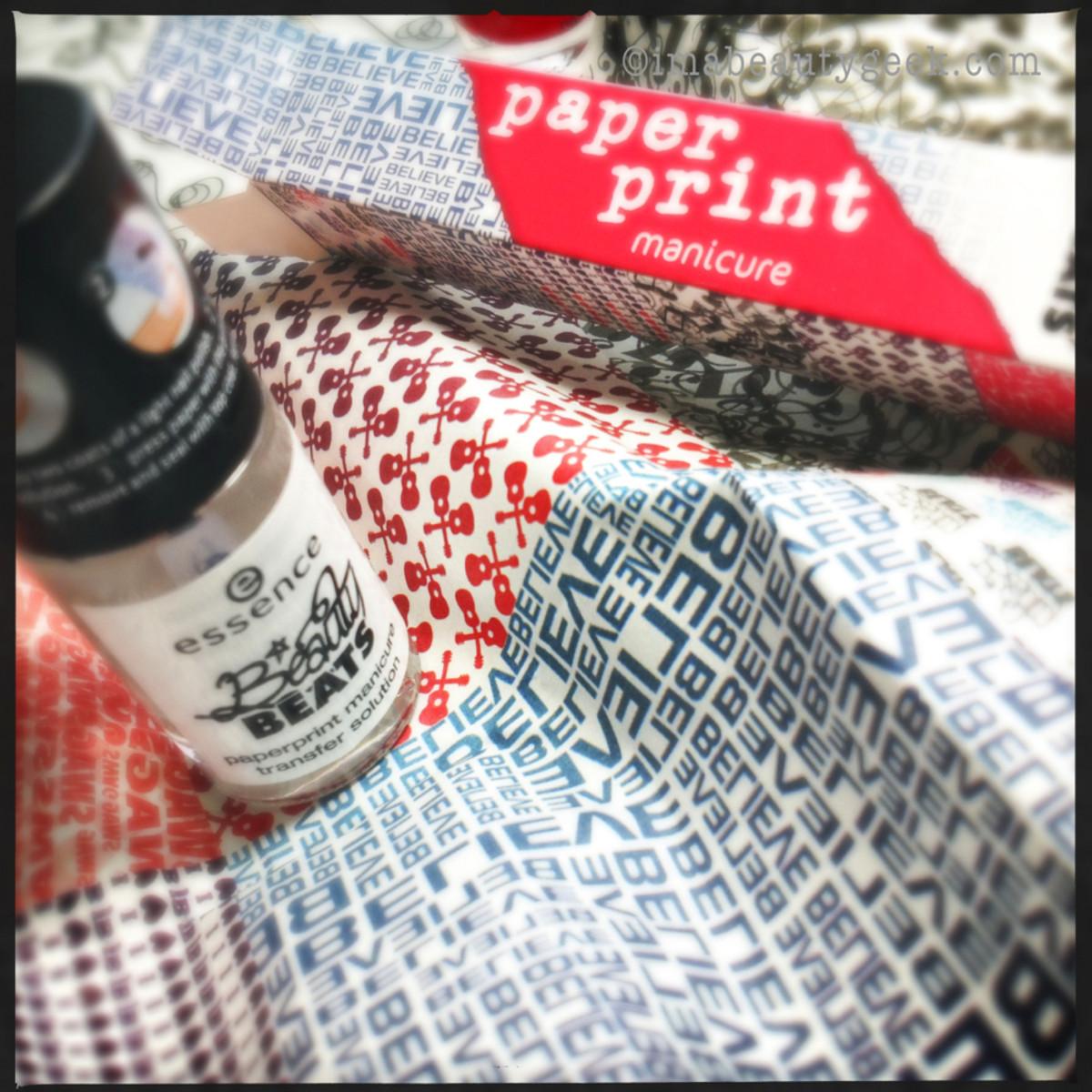 Justin Bieber nail polish_essence beauty beats paperprint manicure