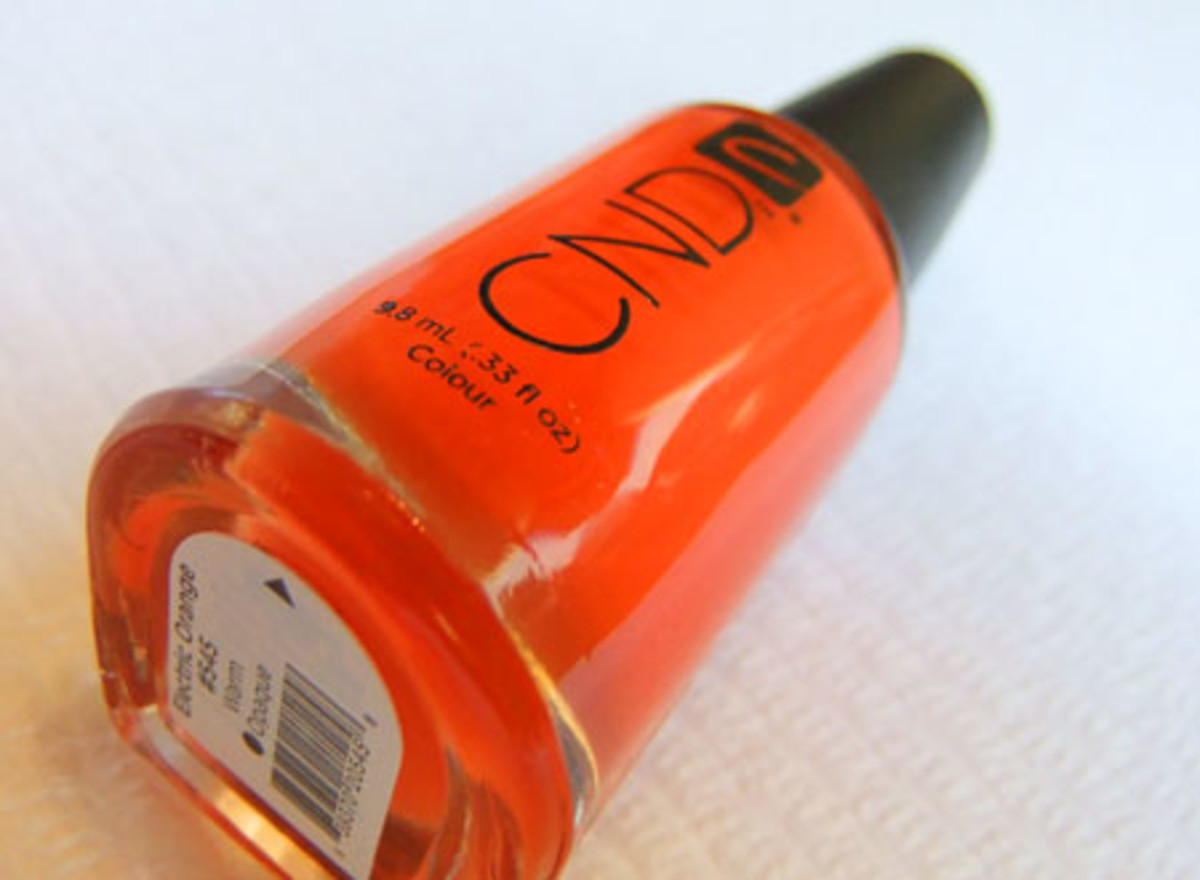 CND nail colour in Electric Orange