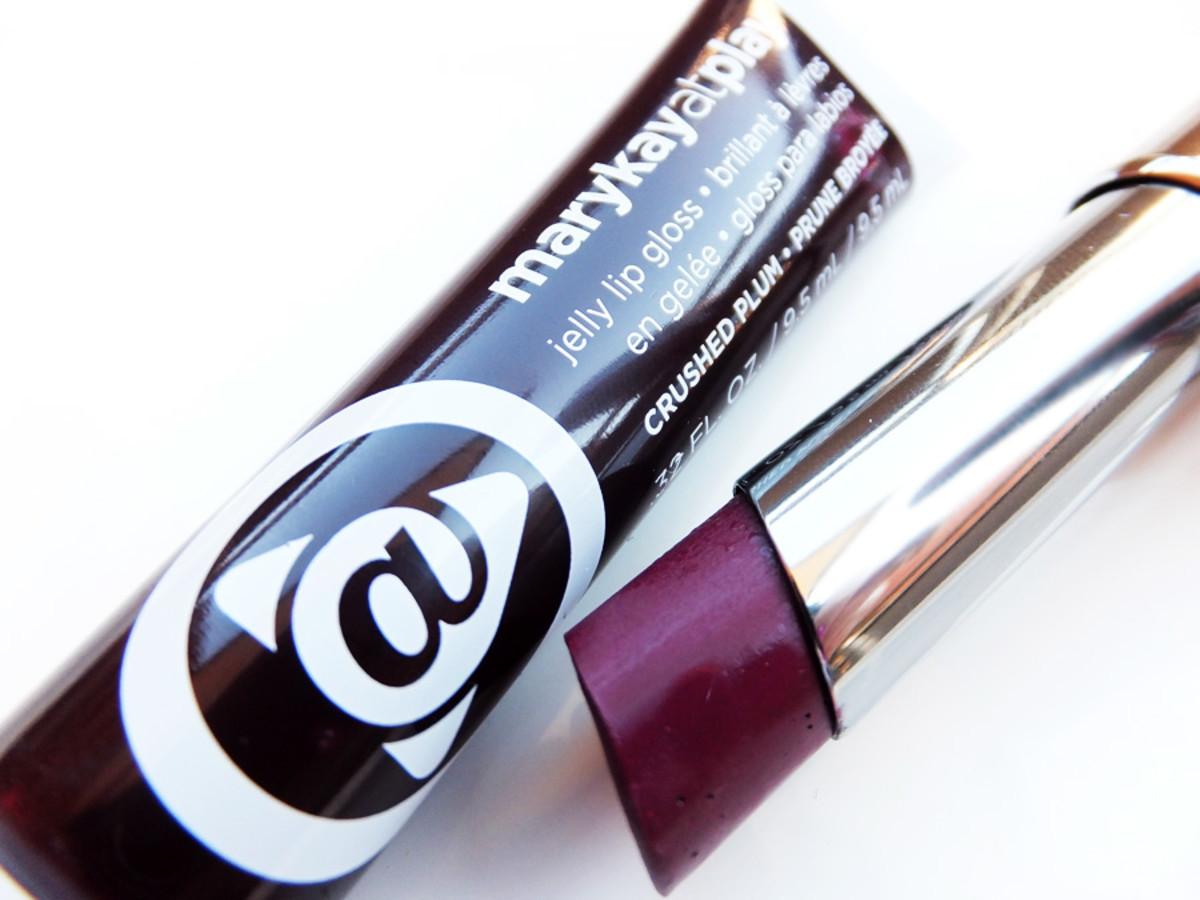 Mary Kay Crushed Plum gloss_Mary Kay Mystic Plum lipstick