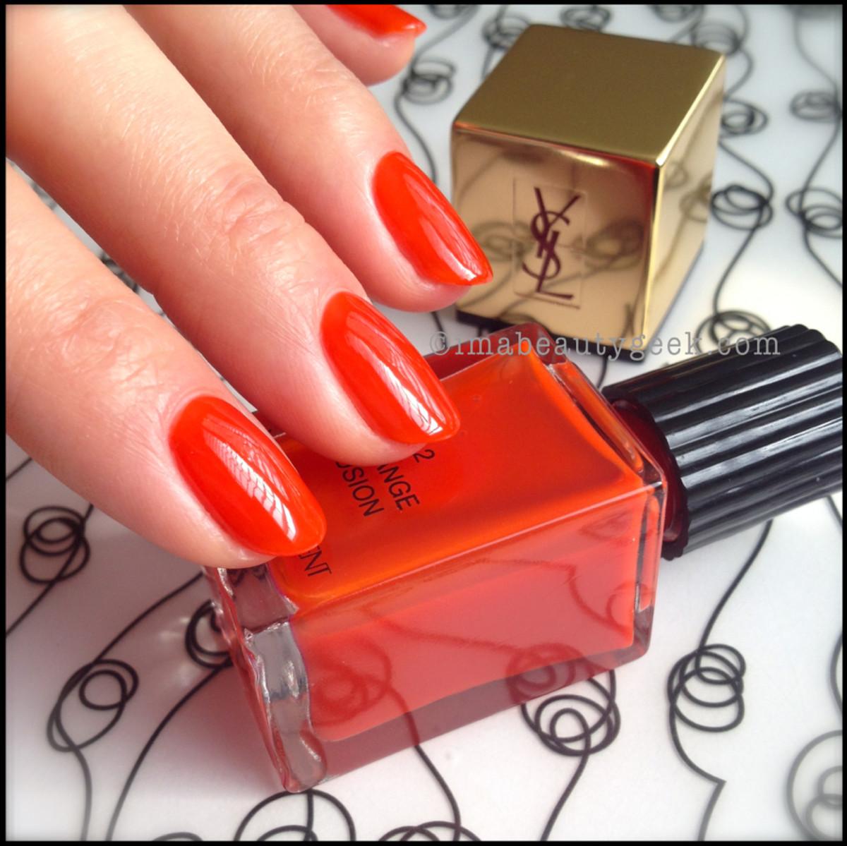 YSL Orange Fusion 2_YSL polish