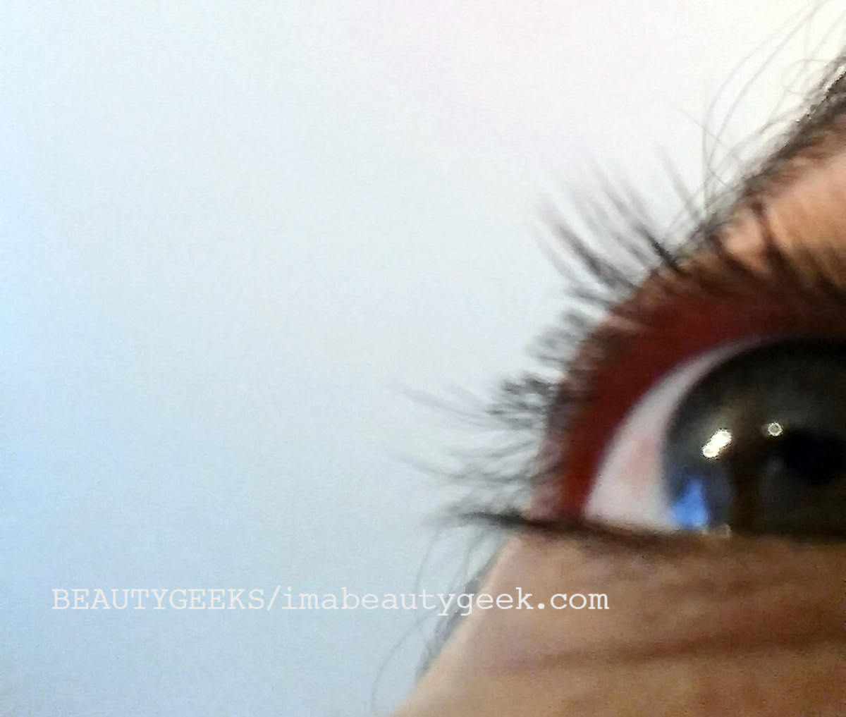 Our poor friend's chopped lashes after she used the Stella lash curler.
