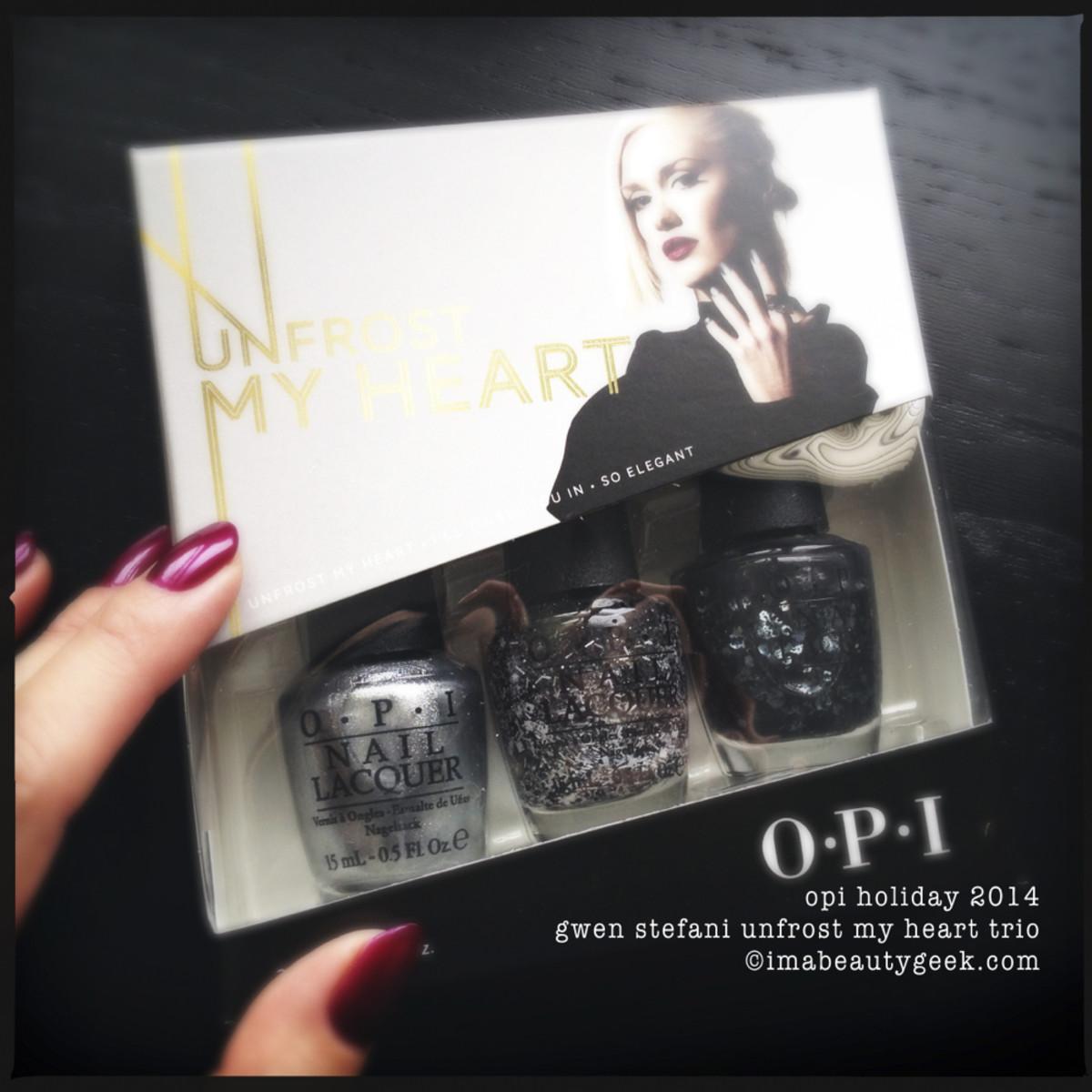 OPI Holiday 2014 Gwen Stefani Unfrost My Heart Trio