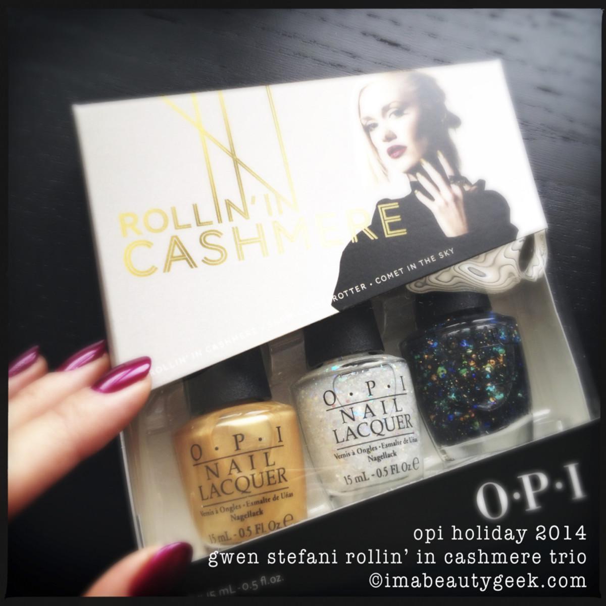 OPI Holiday 2014 Gwen Stefani Rollin in Cashmere Trio