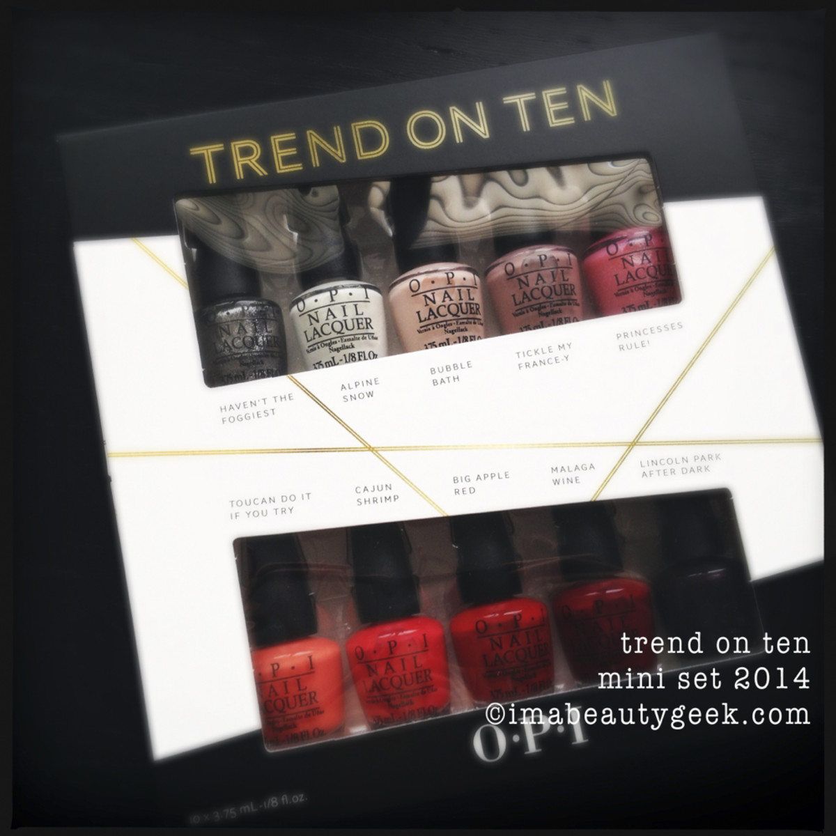 OPI Trend on Ten Holiday 2014