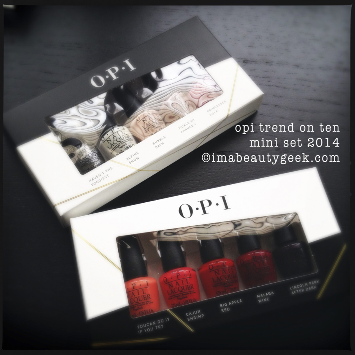 OPI Holiday Gifts 2014 Trend on Ten Split