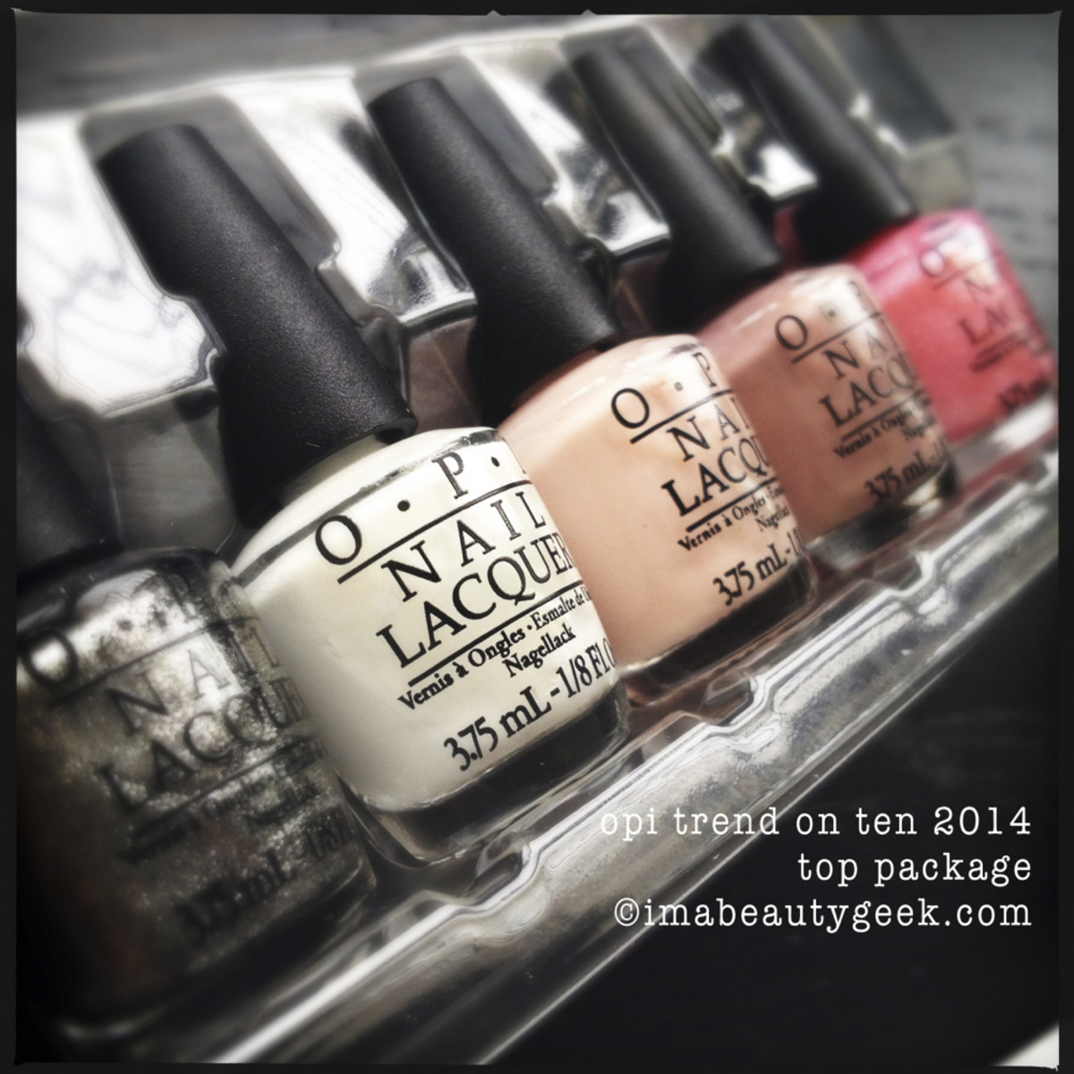 OPI Holiday 2014 Trend on Ten Top Row