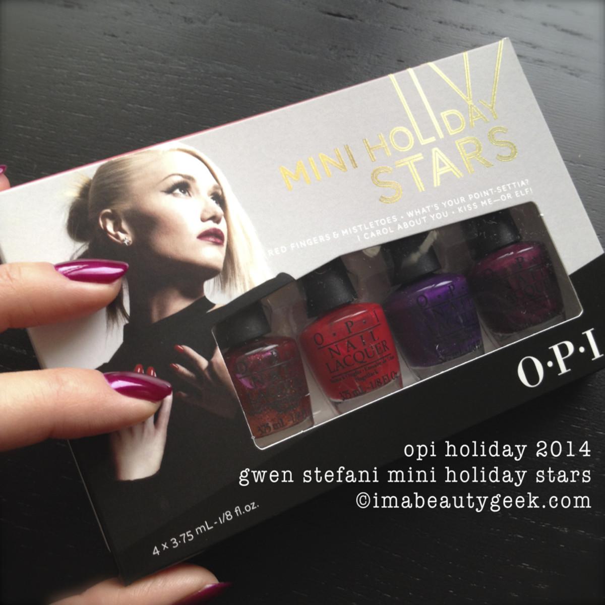 OPI Holiday 2014 Gwen Stefani Mini Holiday Stars