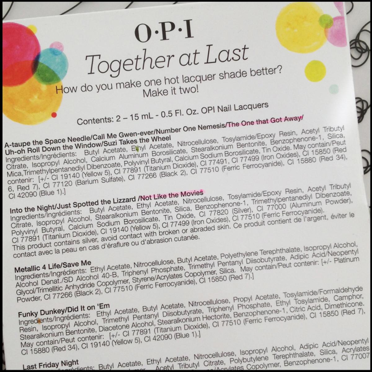 OPI Mystery Shades Beautygeeks