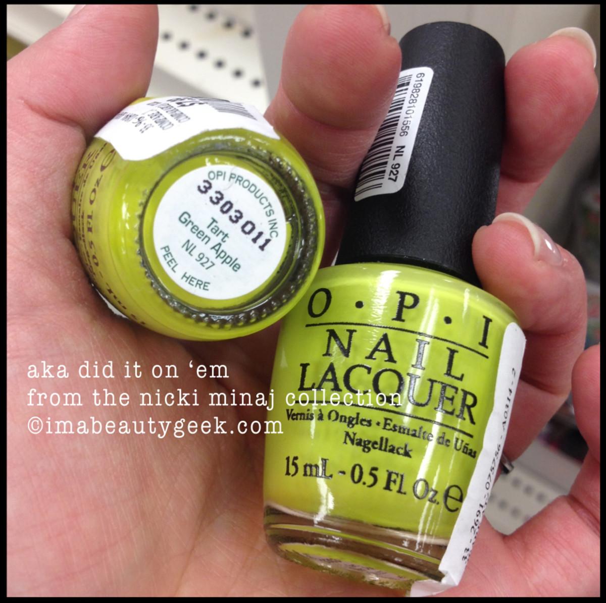 OPI Tart Green Apple