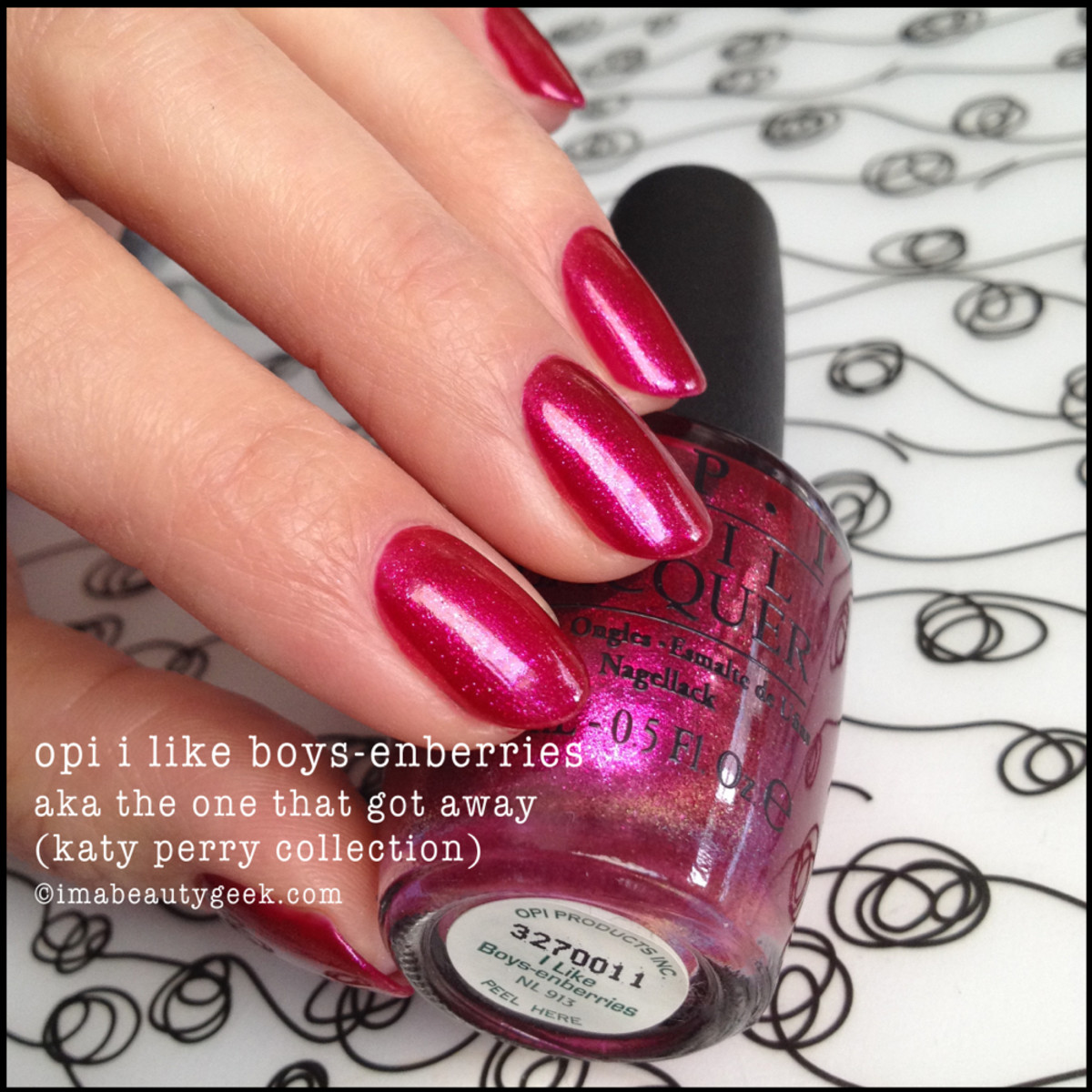 OPI I LIke Boys-Enberries Swatch