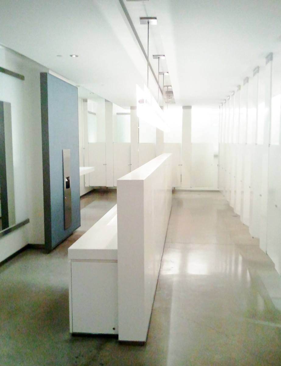 The ladies' restroom at the Telus Centre/Royal Conservatory in Toronto – designed by a woman?