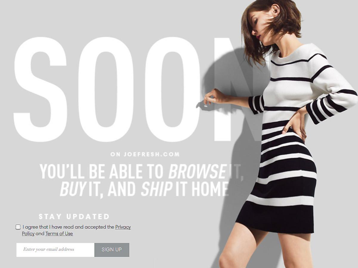 Joe Fresh online shopping soon
