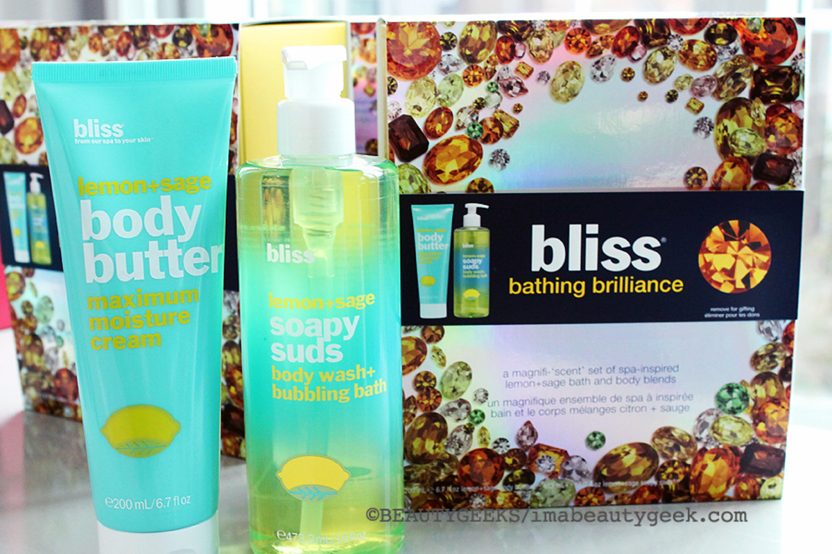 Bliss Holiday 2014_Bliss Bathing Brilliance_Bliss Lemon and Sage Body Butter_Bliss Lemon and Sage Soapy Suds