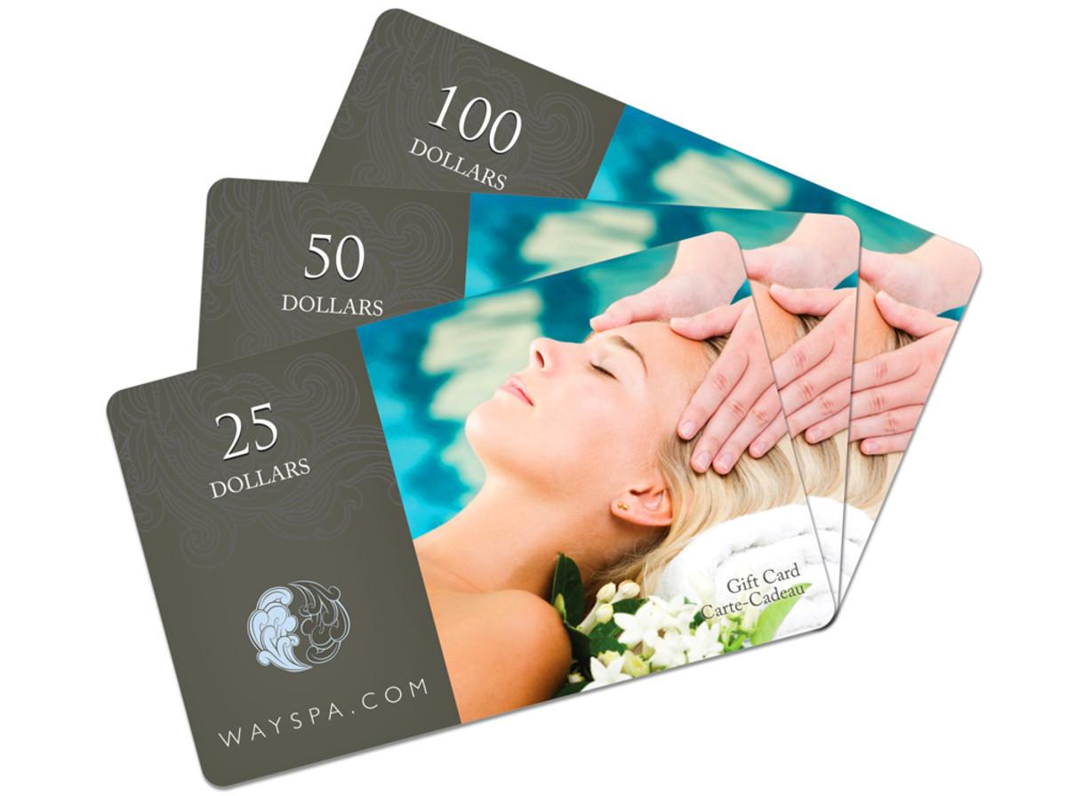 WaySpa gift cards