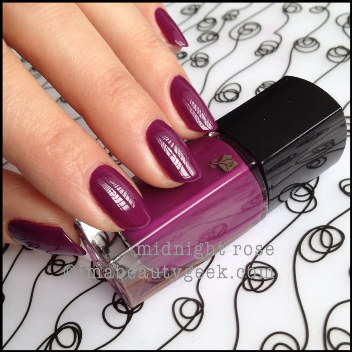 Lancome polish Midnight Rose