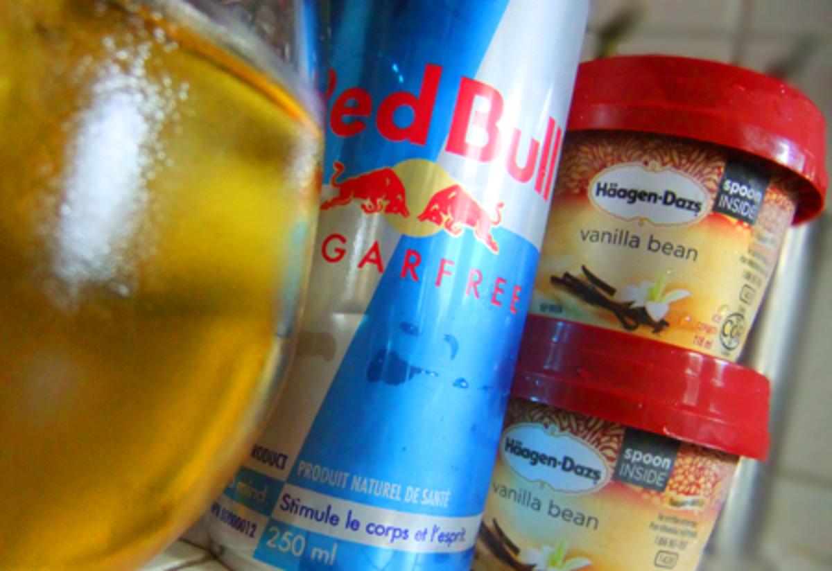 Red Bull and Haagen Dasz Vanilla Ice Cream Float
