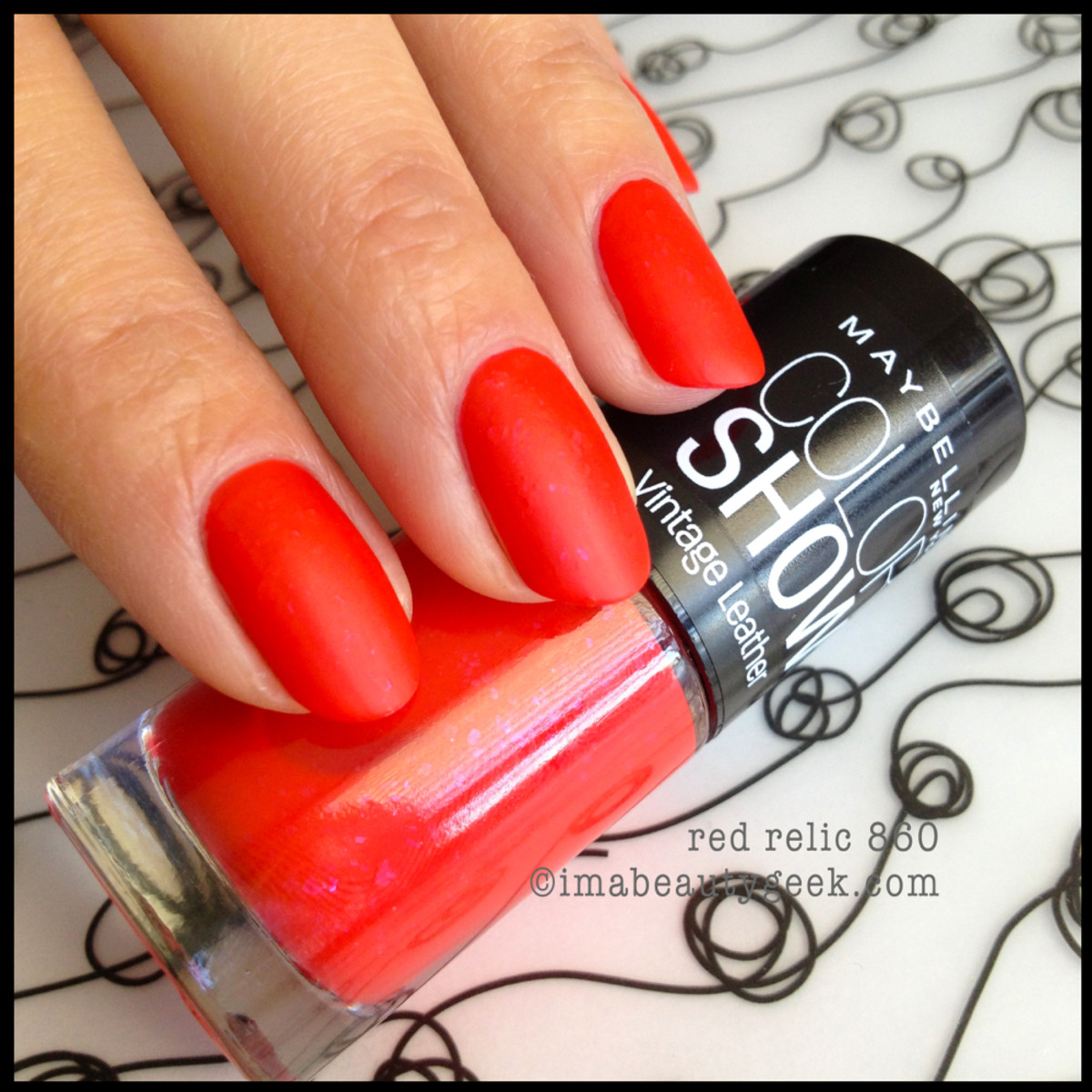 Maybelline Red Relic Vintage Leather 2013