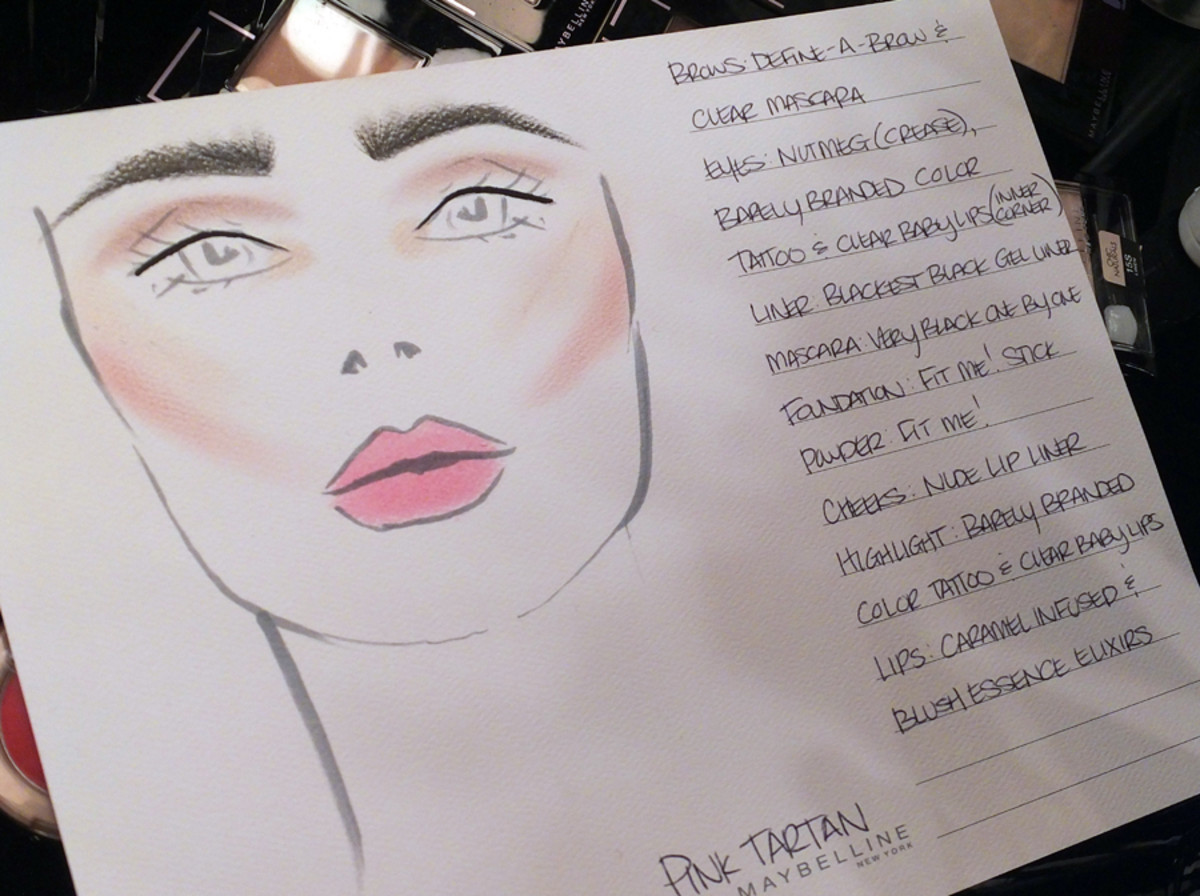 60s natural makeup for Pink Tartan_World Mastercard Fashion Week_Maybelline