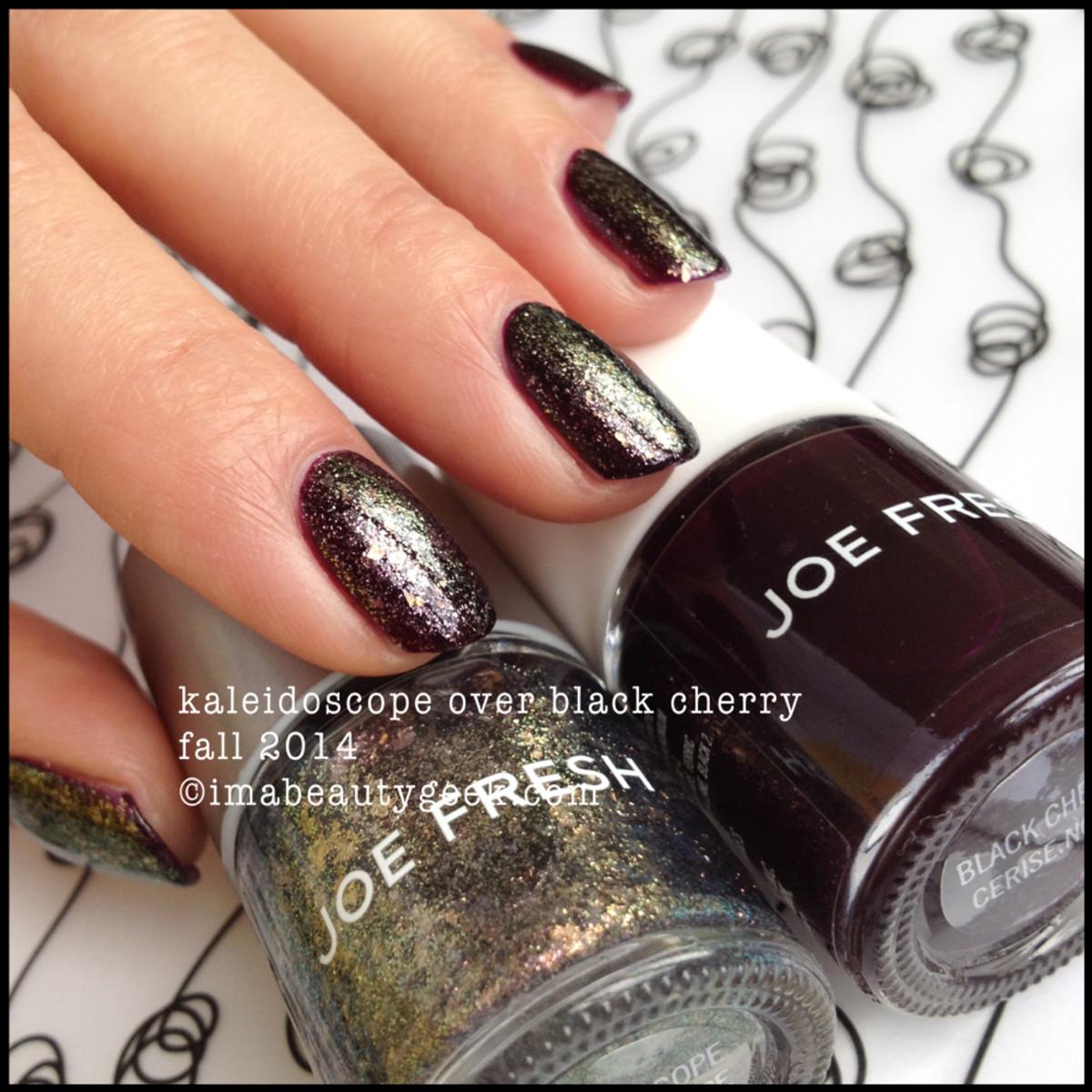 Joe Fresh Polish Kaleidoscope over Black Cherry Fall 2014