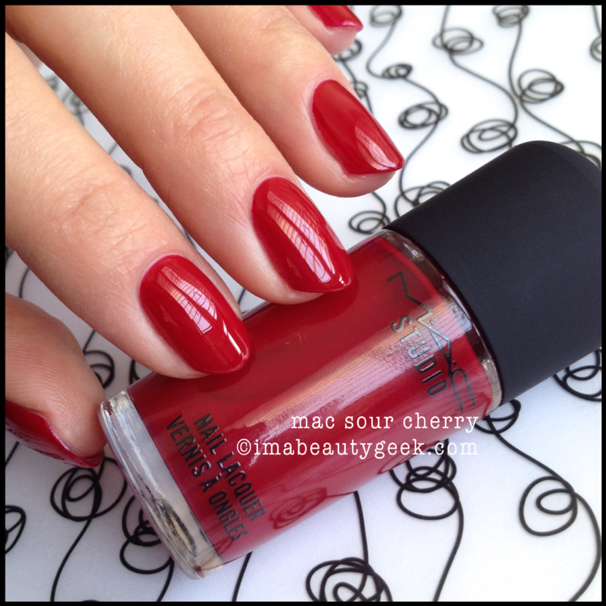 MAC Sour Cherry Nail 2014 Beautygeeks