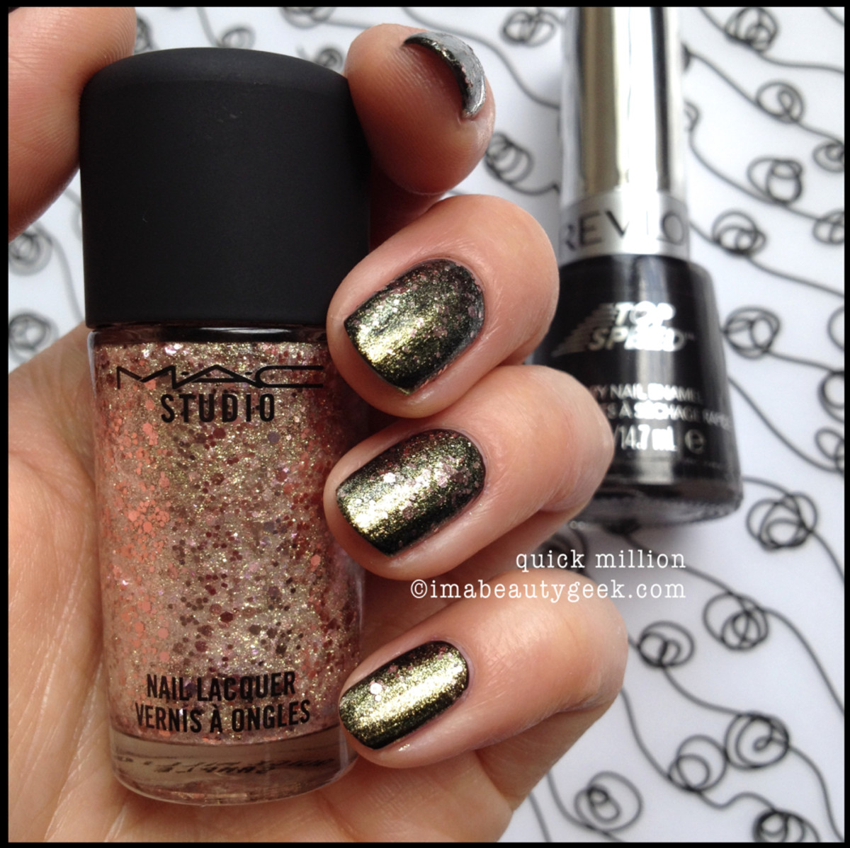 MAC Studio Nail Quick Million over black