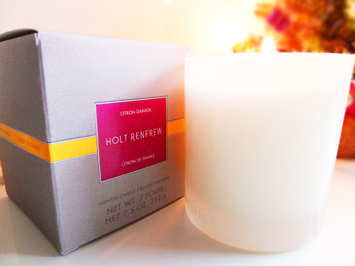 Holt Renfrew Scented Candle in Citron Damask
