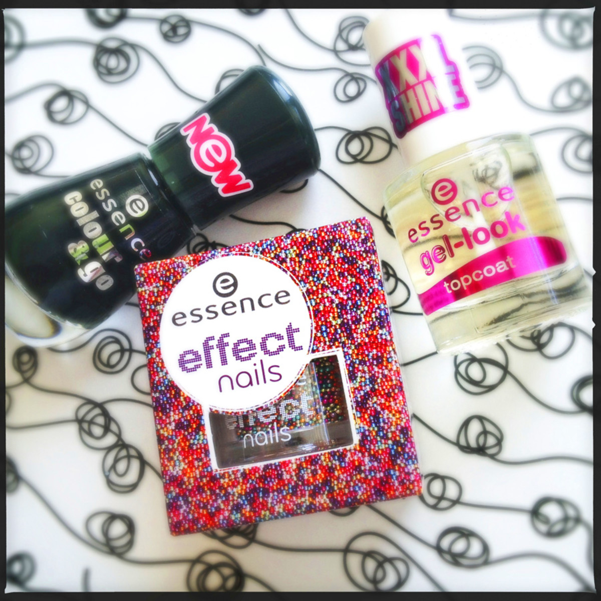 Essence Color & Go Deep Sea, Baby, Essence Effect Nails, Essence Gel-Look Top Coat