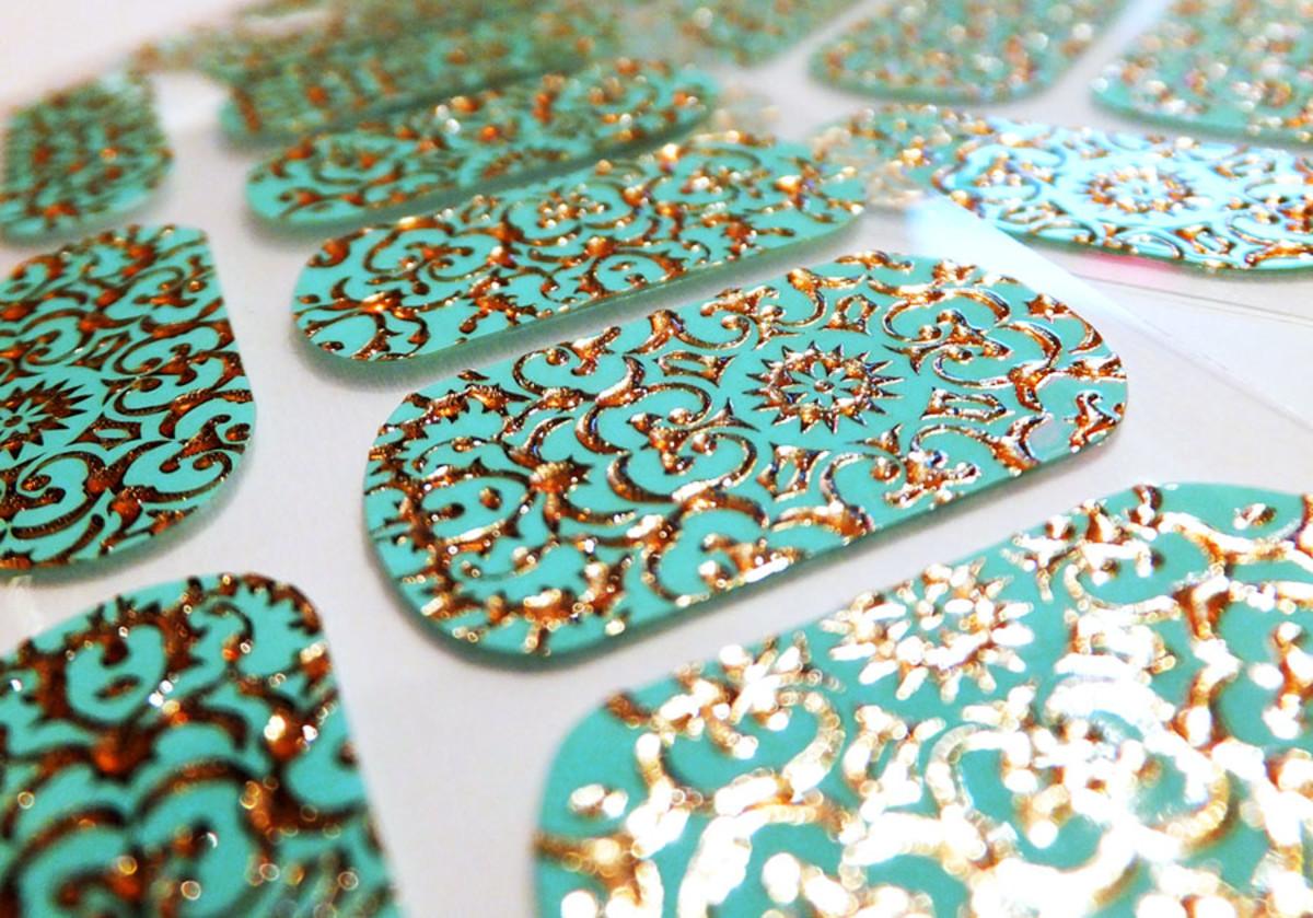 Revlon nail stickers_Revlon by Marchesa 24K Brocade 3D Jewel Nail Art Appliques