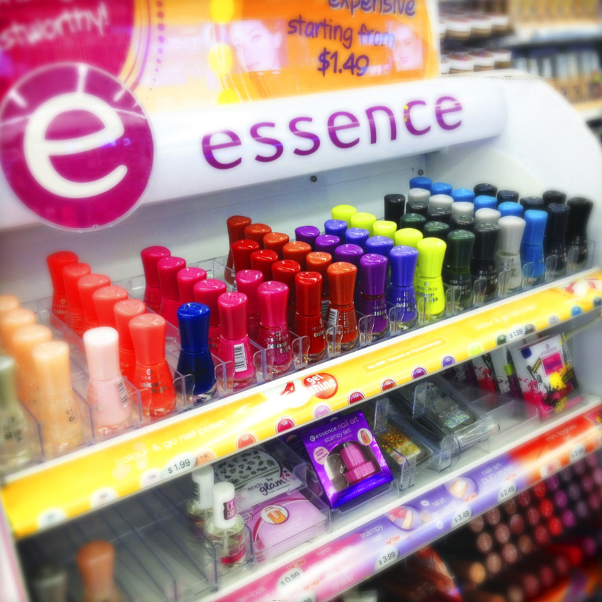 Essence Cosmetics Display at Shoppers Drug Mart