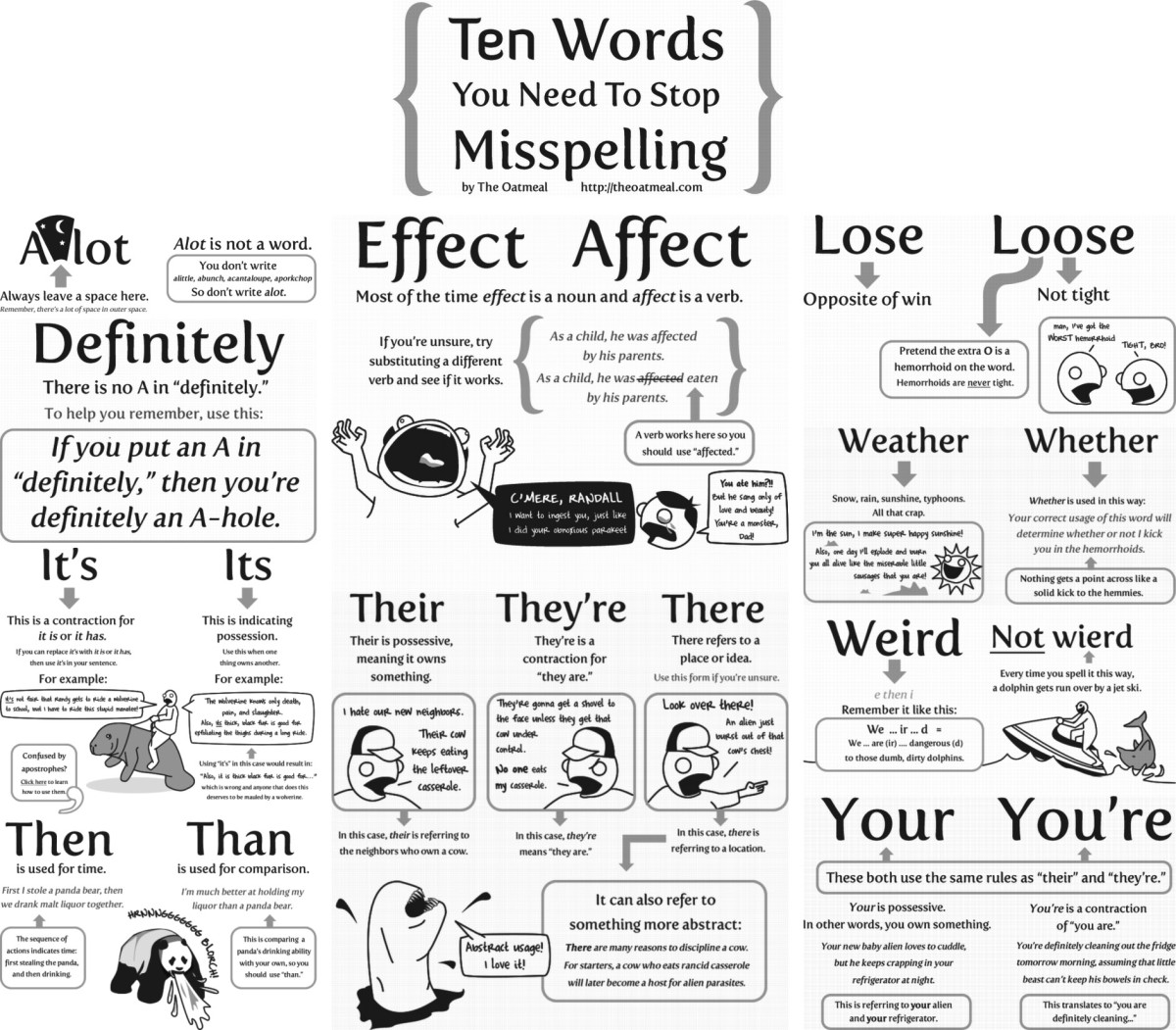 10 Words You Need to Stop Misspelling_The Oatmeal