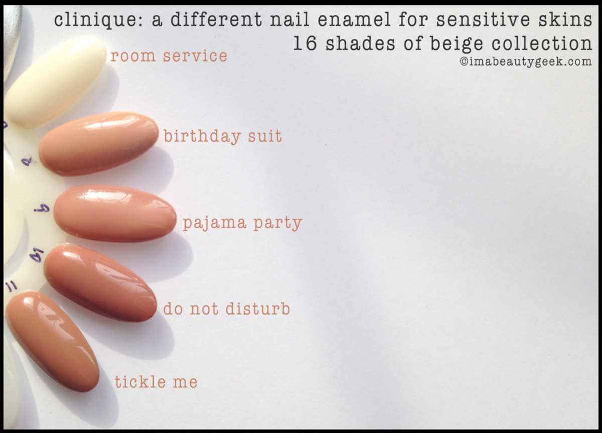 Clinique Nail Polish 8 Shades of Beige