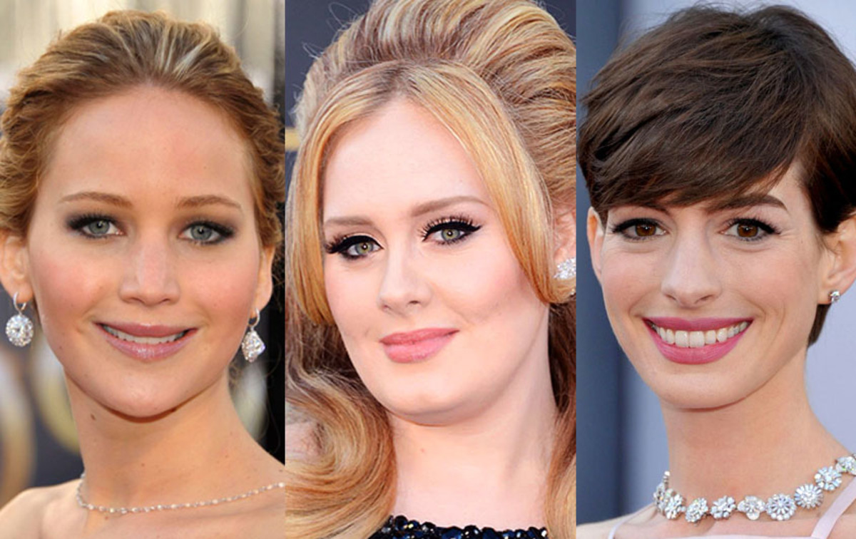 Pink lipstick and gloss at the Oscars 2013