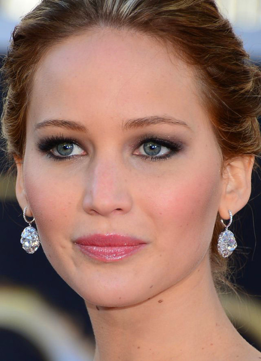 Jennifer Lawrence_Oscars 2013_makeup
