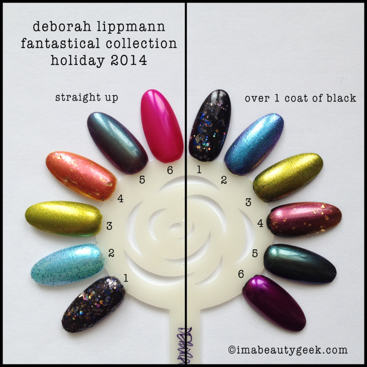 Deborah Lippmann Fantastical Holiday 2014 Neat and Over Black